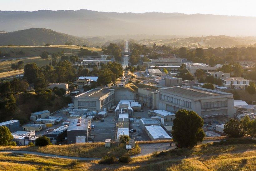 Aerial shot of SLAC Lab