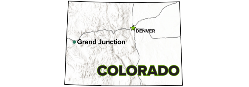 Grand Junction, Colorado, Disposal and Processing Sites map.