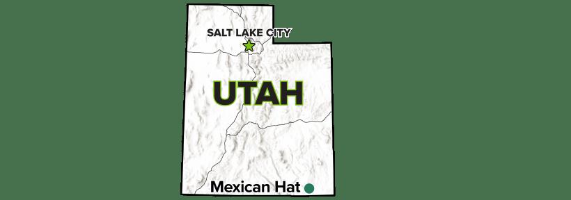 Mexican Hat, Utah, Disposal Site map.
