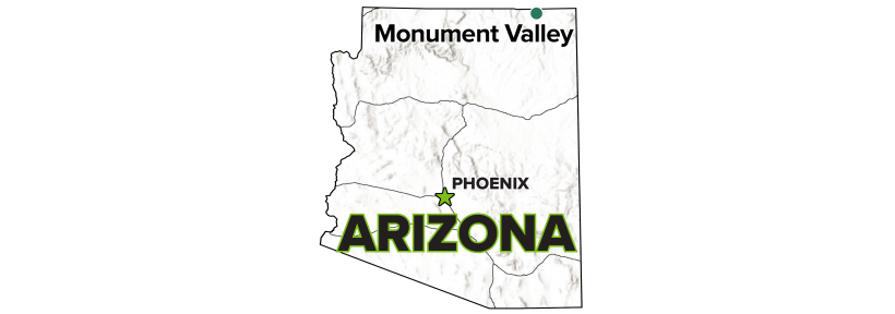 Monument Valley, Arizona, Processing Site map.