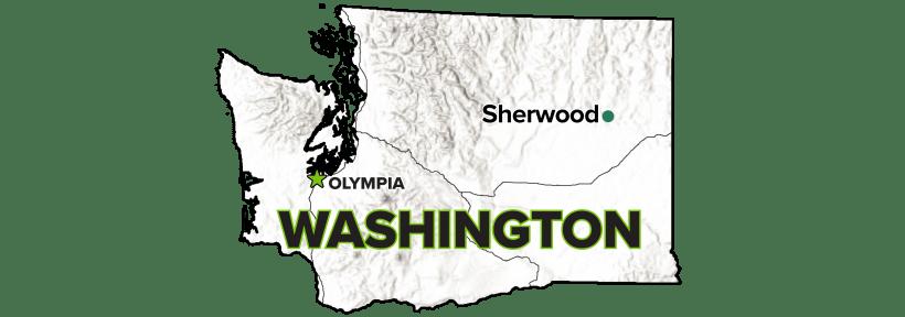 Sherwood, Washington, Disposal Site map.