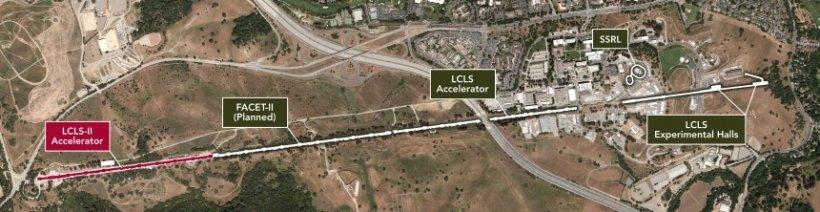 Aerial map of SLAC LCLS-II