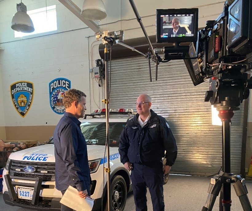 An interview with an NYPD official for the ORS video to be used on officers' mobile devices.