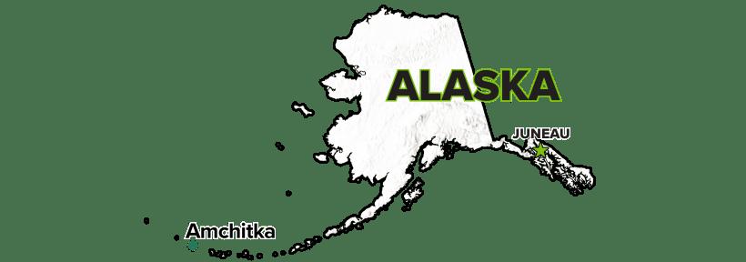 Amchitka, Alaska, Site map.