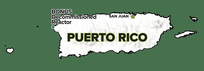 BONUS, Puerto Rico, Decommissioned Reactor Site map.