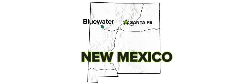 Bluewater, New Mexico, Disposal Site map.