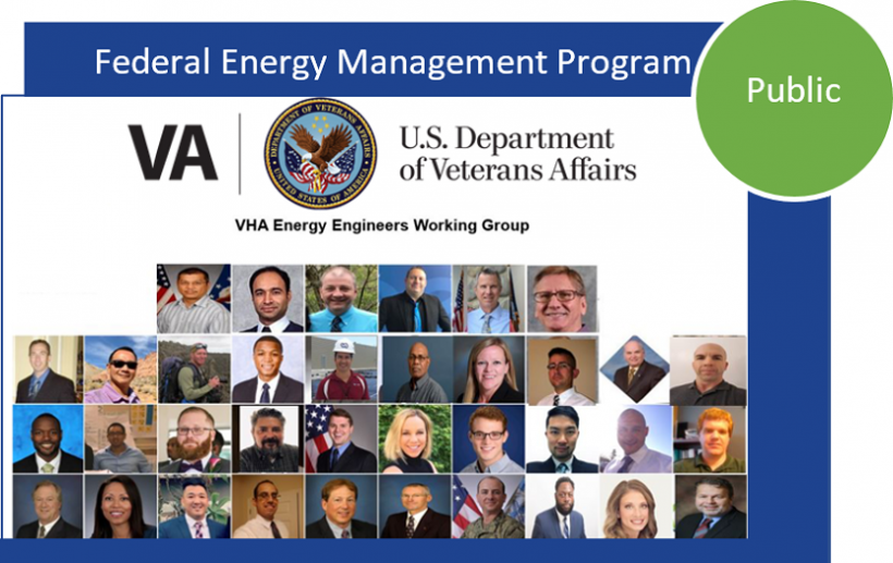 a collage of photos of people from the US department of veterans affairs