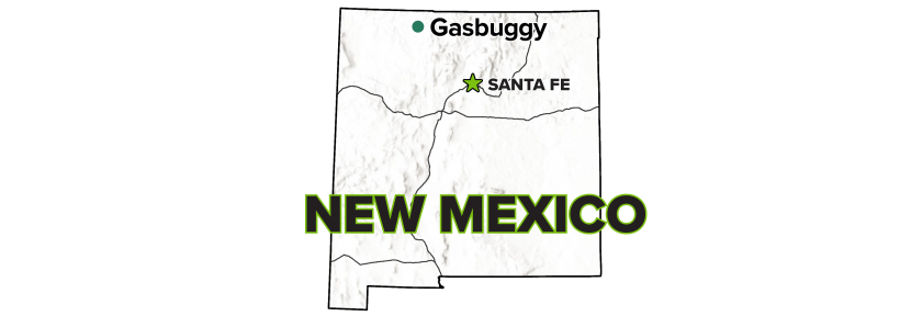 Gasbuggy, New Mexico, Site map.