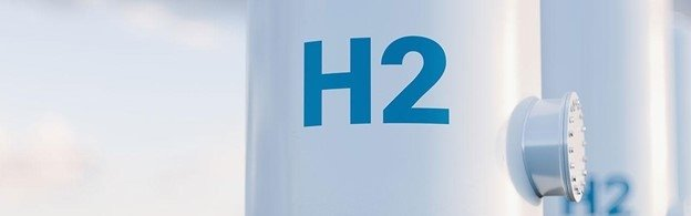H2 printed on a pipe.