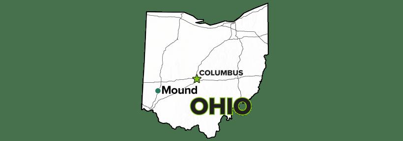 Mound, Ohio, Site map.