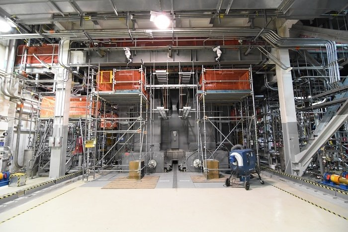 Startup testing is complete for two melters, pictured here, inside the Low-Activity Waste Facility at the Hanford Waste Treatment and Immobilization Plant.