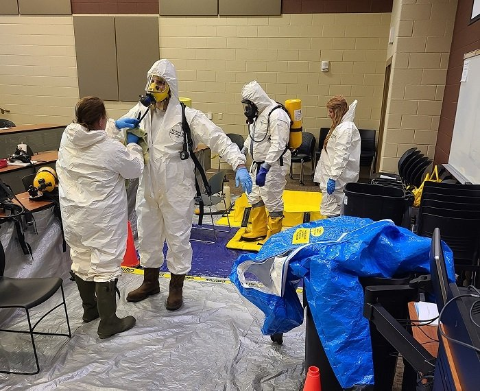 Oak Ridge cleanup contractor UCOR's radiological control technician training program includes hazardous waste operations emergency response and asbestos training to ensure graduates are prepared for the variety of tasks required for radiological cleanup.