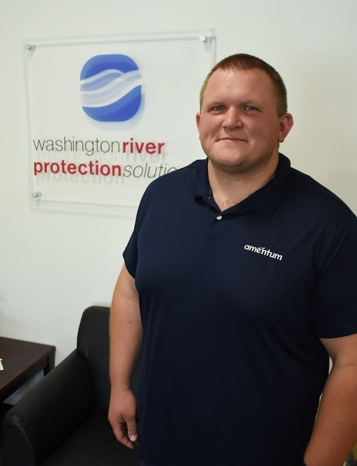 Industrial hygienist Zackary Way, with Hanford Site contractor Washington River Protection Solutions, led a team identifying chemical filter cartridges that protect tank farm workers from the hazards of chemical tank vapors.