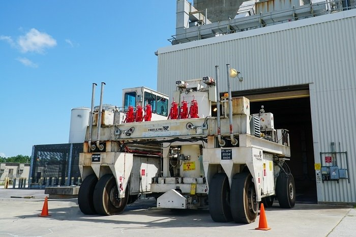Savannah River Site employees recently upgraded the site's shielded canister transporter with an advanced fire suppression system.