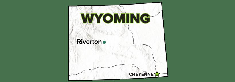 Riverton, Wyoming, Processing Site map.