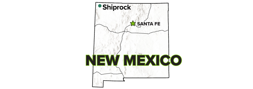 Shiprock, New Mexico, Disposal Site map.