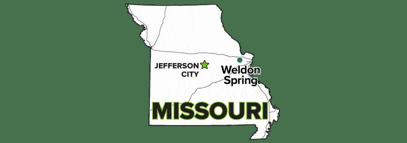 Weldon Spring Site, Missouri map.