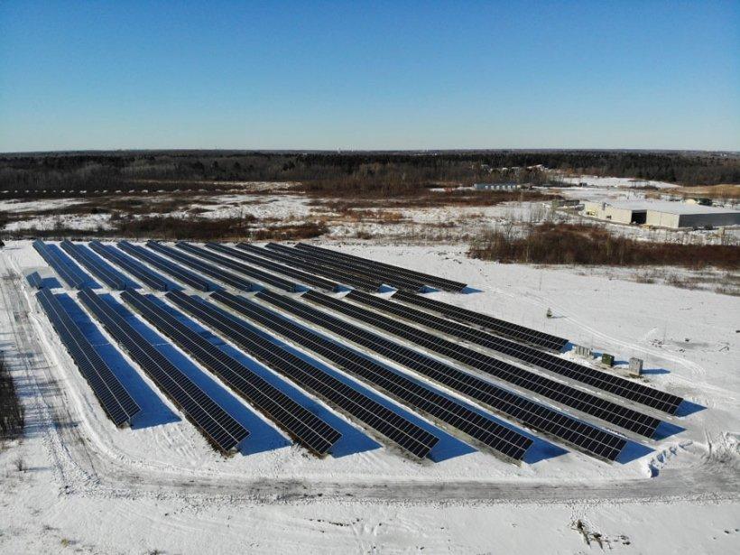 Solar farm in New York