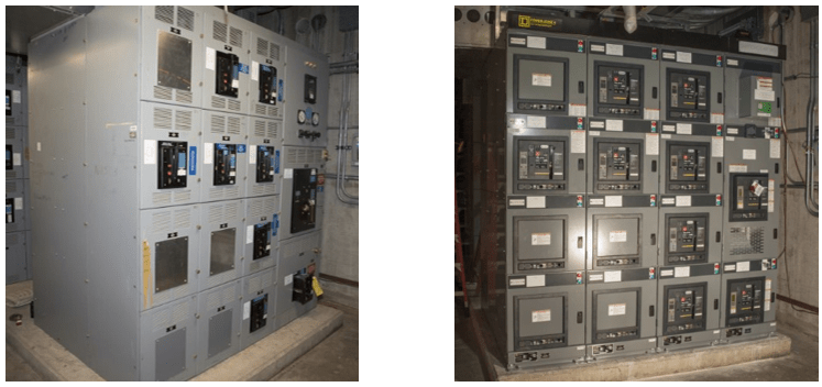 9204-2E Switchgear Replacements (Before & After)