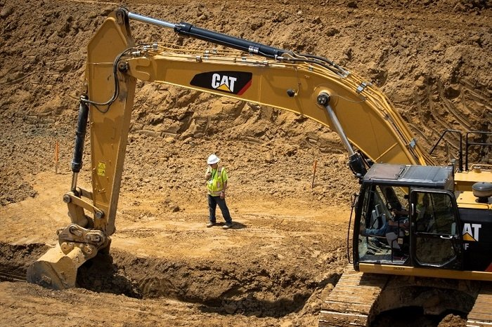 The first excavation of soil got underway recently to remove sources of potential groundwater contamination and provide fill dirt for the On-Site Waste Disposal Facility at the Portsmouth Site.