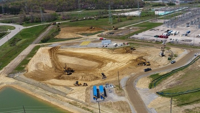Approximately 180,000 square yards of soil will be excavated from the first of five legacy groundwater plumes and used as engineered fill in the Portsmouth Site On-Site Waste Disposal Facility to place and compact debris from the ongoing demolition of the X-326 former uranium-enrichment process building.