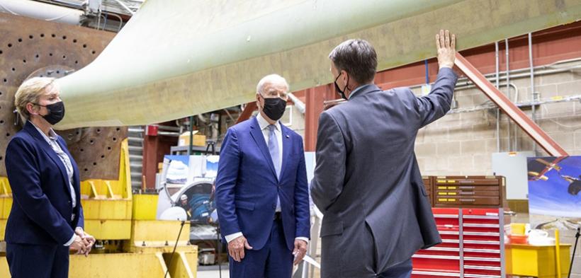 President Biden and the Secretary of Energy tour the National Renewable Energy Laboratory.