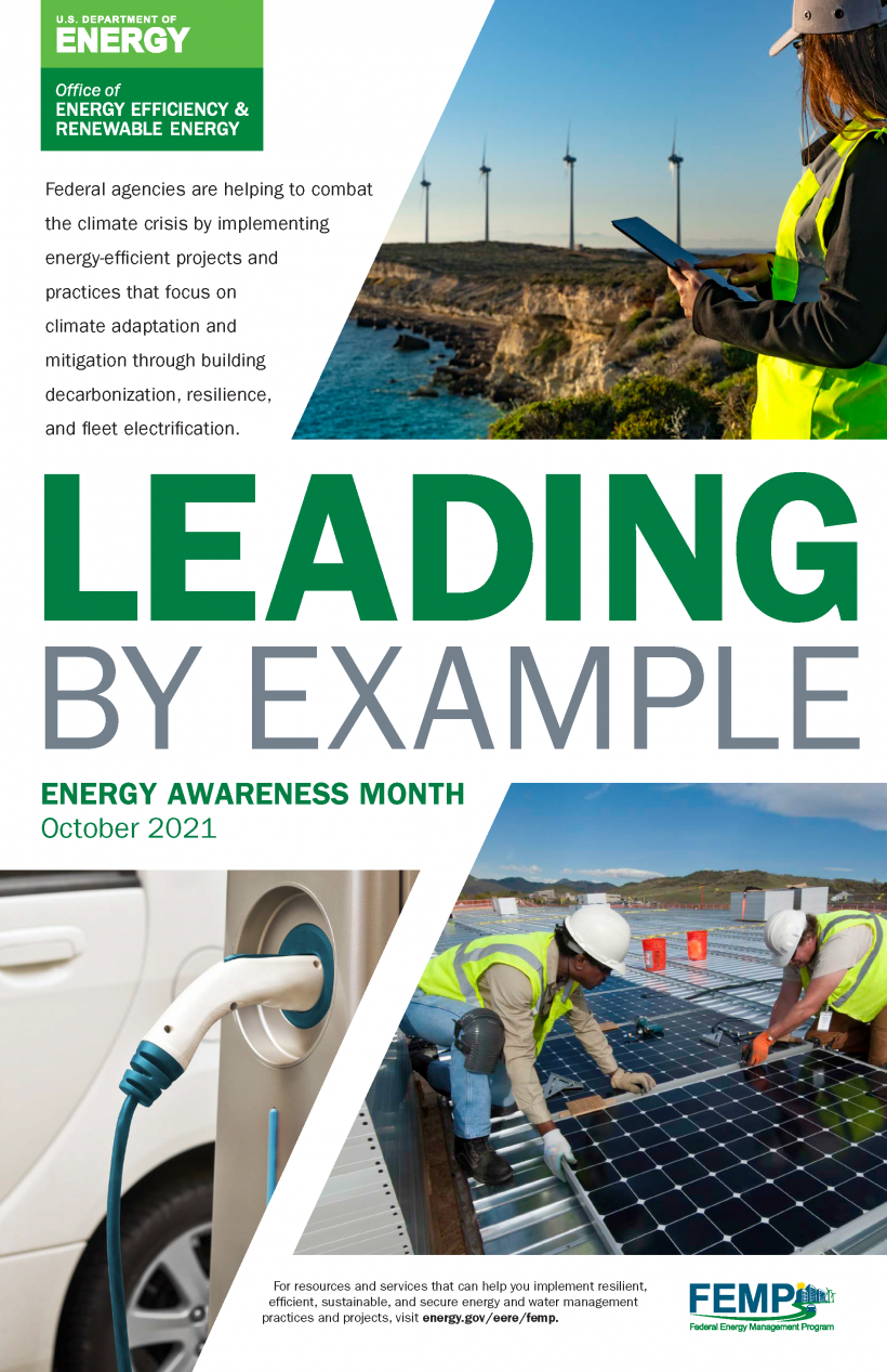 Leading by Example, Energy Awareness Month October 2021