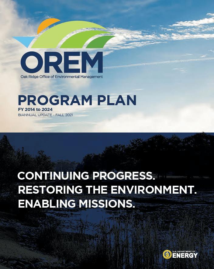 Cover of OREM's 10-year program plan