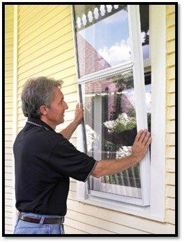 Installing an exterior storm window