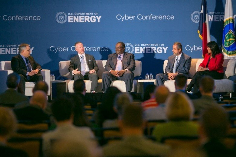 NNSA's Wayne Jones participates in a panel session during the 2018 Department of Energy Cyber Conference in Austin, Texas.