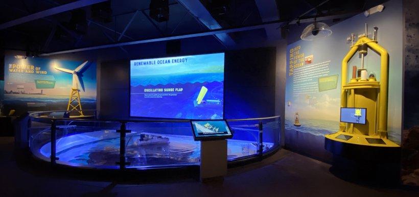 Renewable Ocean Energy exhibit at the Mystic Aquarium in Connecticut.
