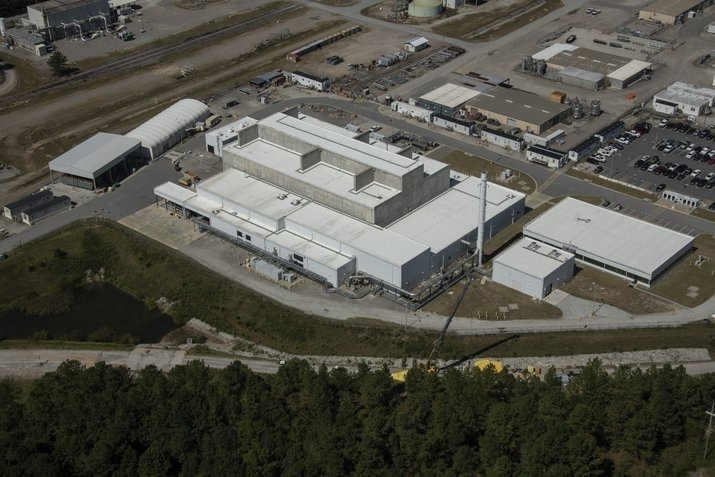 An aerial view of the Salt Waste Processing Facility.