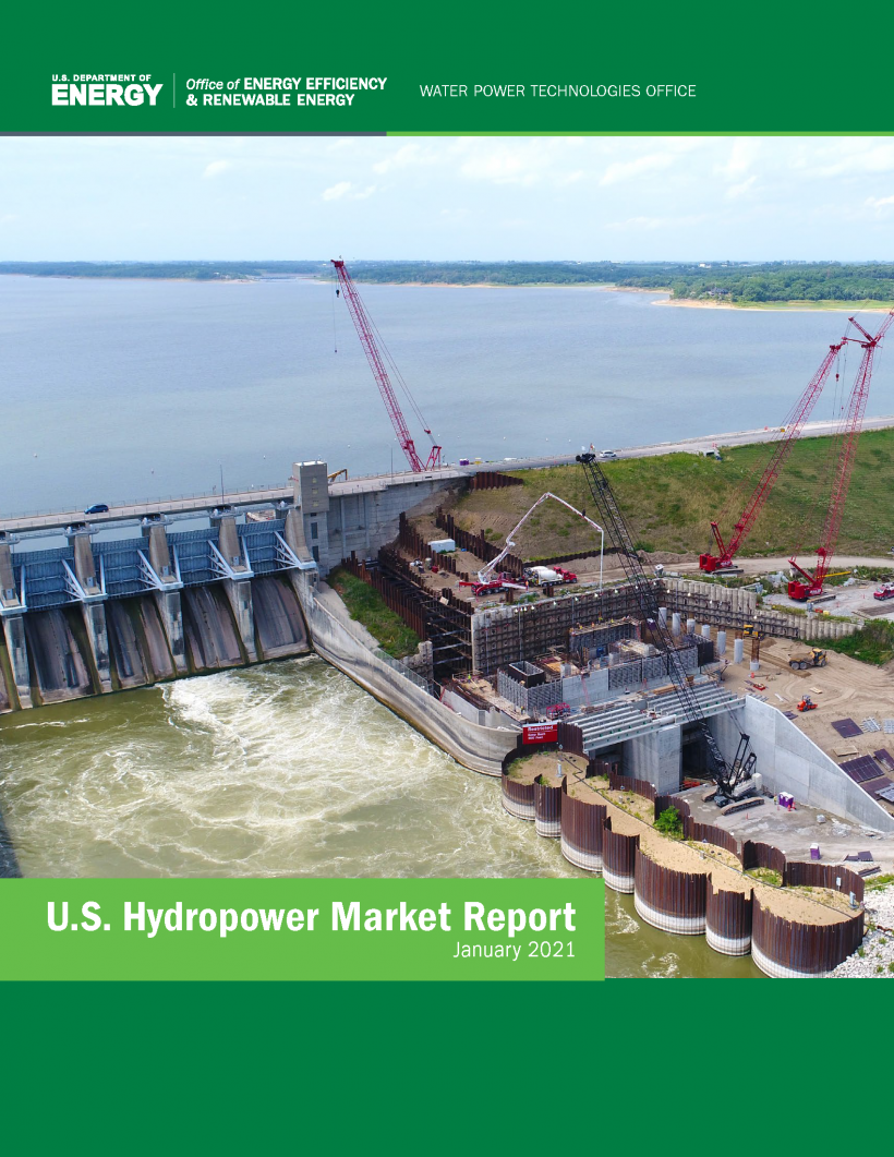 """Cover of the """"U.S. Hydropower Market Report"""""""