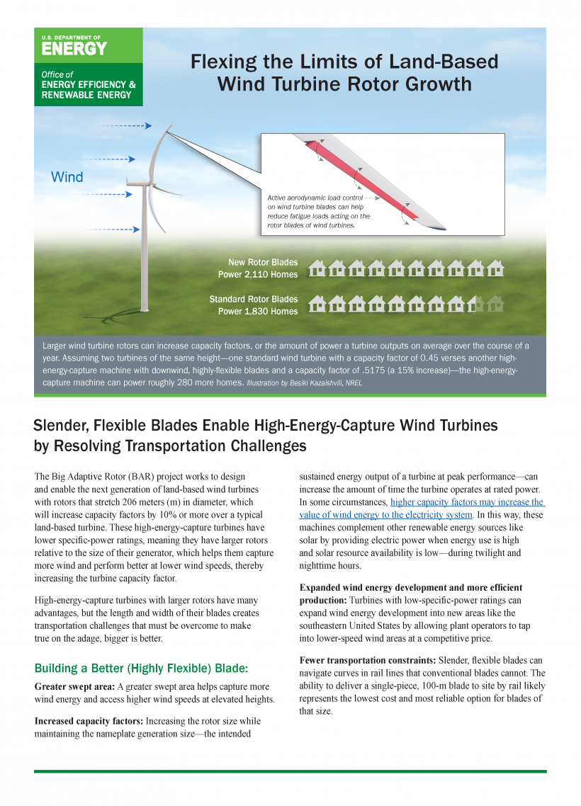 """Cover of """"Flexing the Limits of Land-Based Wind Turbine Rotor Growth"""""""