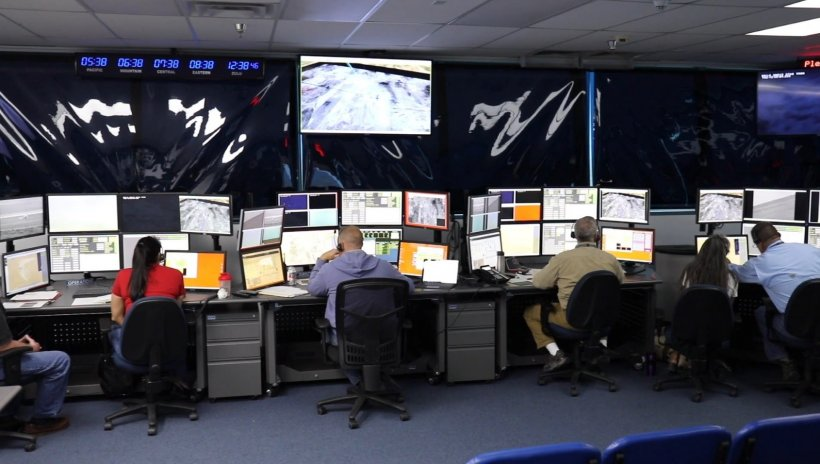 The Tonopah Test Range Test Operations Center houses mission critical systems and personnel that coordinate all activities during testing operations. The Control Room provides a 360-degree view of the test range.