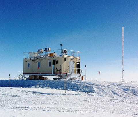 Instruments (including two provided by DOE ARM) for the Integrated Characterization of Energy, Clouds, Atmospheric State, and Precipitation over Summit operate on top and inside of the NSF-supported Mobile Science Facility at Summit Station in Greenland.