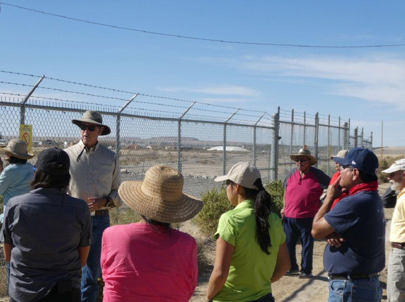 LM Shiprock Site Manager Mark Kautsky addresses Diné Uranium Remediation Advisory Commission members, and other federal and tribal agencies, during a tour of the Shiprock, New Mexico, Disposal Site.