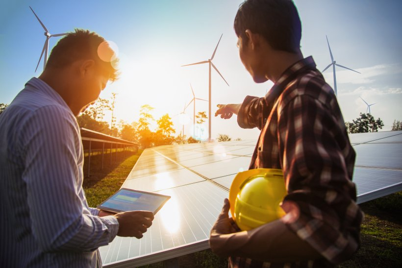 Wind and solar workers
