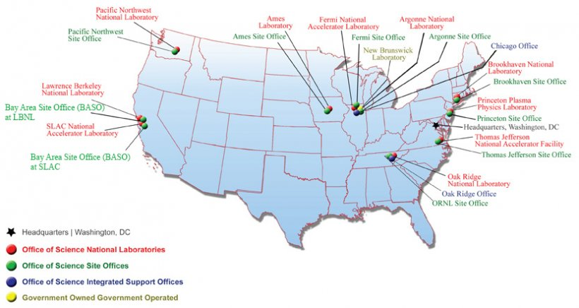 DOE Science Facilities Map