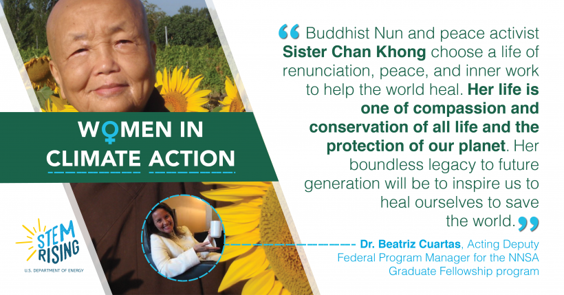 Buddhist Nun and peace activist Sister Chan Khong is the one of Dr. Beatriz Cuartas' greatest heroines.