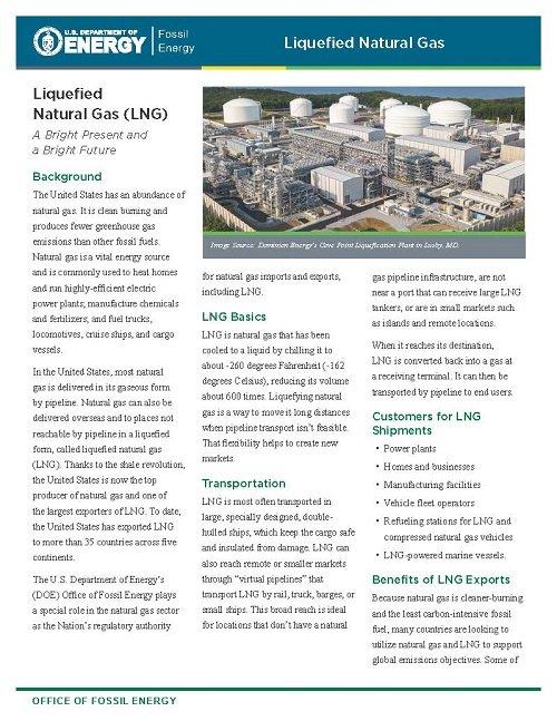 LNG Fact Sheet Page 1