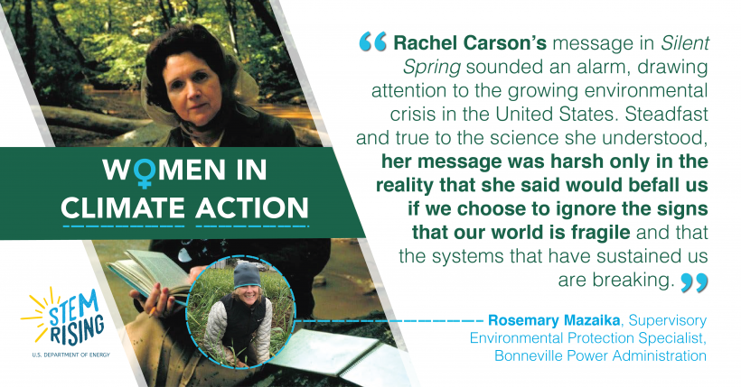 Rosemary of Bonneville Power Administration was inspired by Rachel Carson's book.