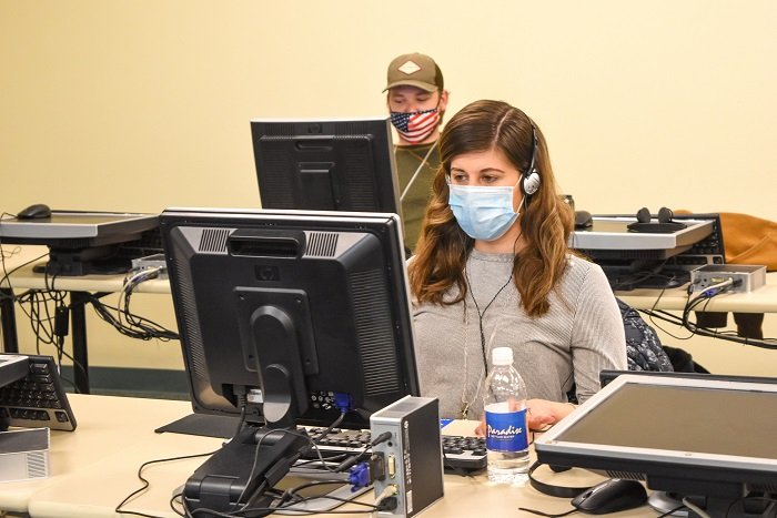 Bernice Bunker & Justin Korenkiewicz are two recently hired of approximately 50 laboratory & radiological technicians Bechtel National, Inc. plans to hire and train this year to prepare the Hanford Site's Analytical Laboratory for cold commissioning.