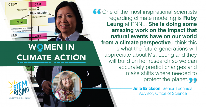 Julie Erickson, Office of Science, shares who inspires her in climate action.