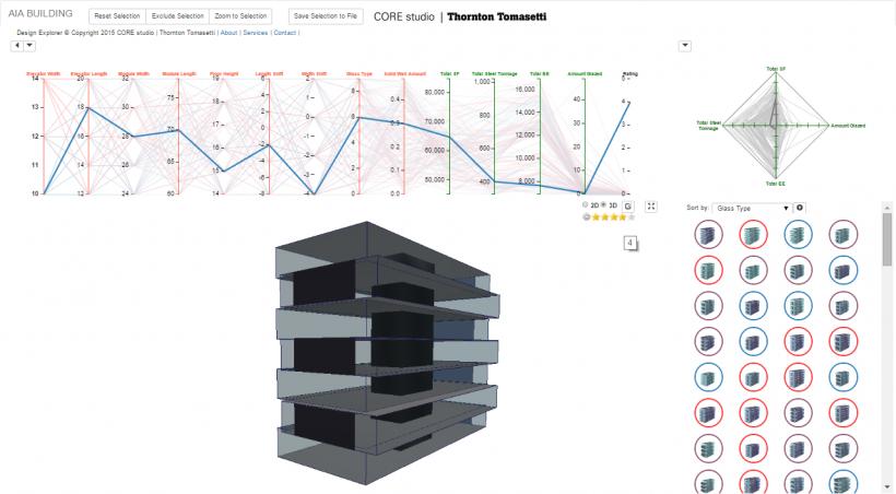 Screenshot of the Design Explorer tool.