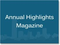 """Graphic box with the words """"Annual Highlights Magazine."""""""