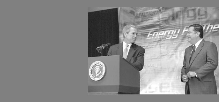 President Bush speaks to employees at DOE's Forrestal building in Washington, D.C. announcing $85.7 million in Federal grants.