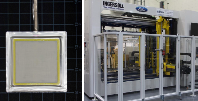 Left: advanced Protected Lithium Electrodes. Right: RApid Freeform sheet metal Forming Technology (RAFFT).