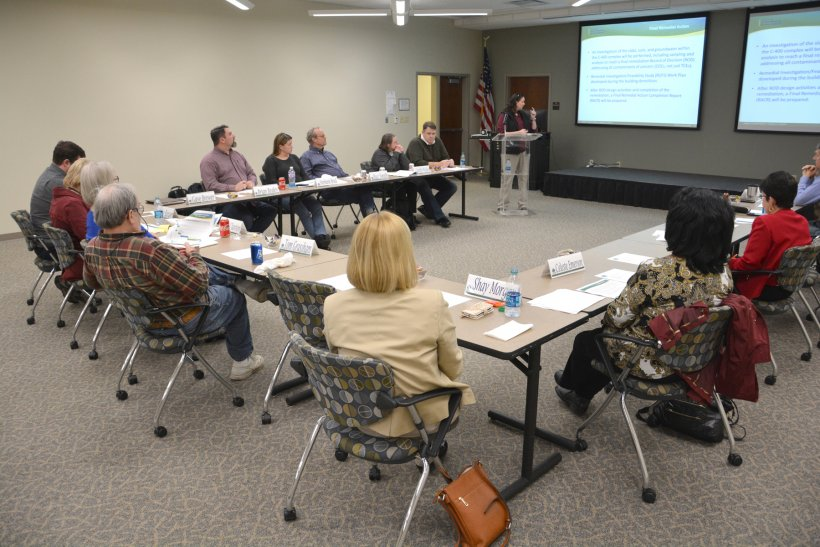 A meeting of the Paducah Citizens Advisory Board at its offices at West Kentucky Community and Technical College