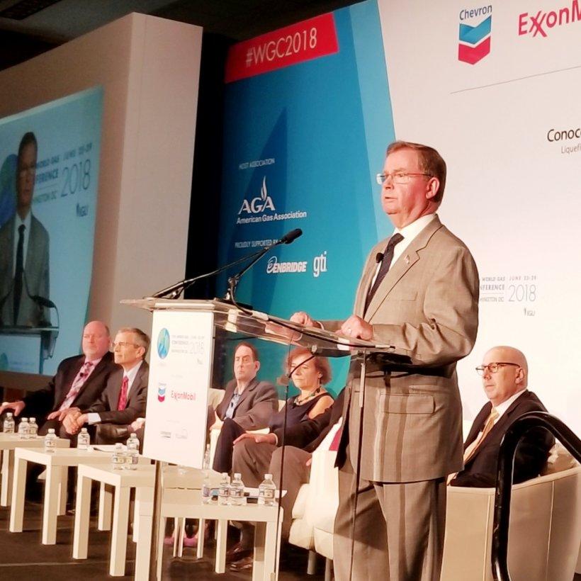 Steve Winberg giving remarks at WGC